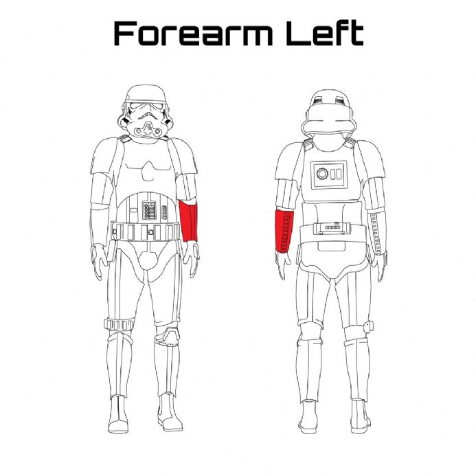 ORIGINAL STORMTROOPER ARMOUR PARTS [Forearm Left]